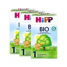 3盒装喜宝Hipp有机奶粉1段600g 3-6个月宝宝奶粉 有机奶源口感清淡