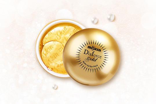 韩国Miskin Diaforce第二代黄金贵妇眼膜60片 保湿抗皱重焕饱满弹力眼肌 一盒/两盒