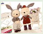 伴侣兔公仔抱枕毛绒玩具玩偶(一对) 35CM/45CM/55CM等3种尺寸