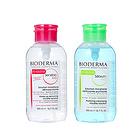 法国Bioderma贝德玛卸妆水500ML洁肤液 控油蓝水/舒缓粉水 带泵头更方便
