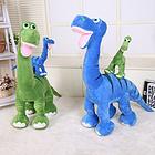 恐龙玩偶公仔毛绒玩具 蓝色/绿色和4种尺寸可选