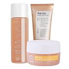日本辉生肌Re'au护肤组合3件套 100g洗面奶+120ml化妆水+30g保湿凝露