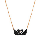 Swarovski 施华洛世奇 Iconic Swan 黑色双天鹅项链 5296468