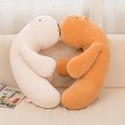 极软毛绒玩具水豚抱枕公仔 两个颜色三种规格任选