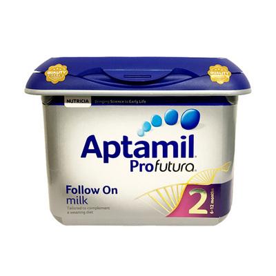 英国Aptamil爱他美白金版婴幼儿牛奶粉2段 6~12个月宝宝 800g/罐