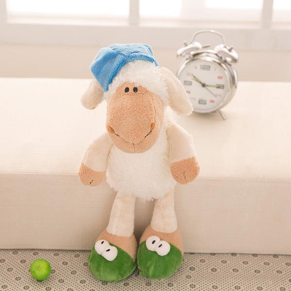 肖恩羊公仔可爱小羊肖恩毛绒玩具抱枕玩偶布娃娃 五种规格任选