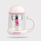 韓國杯具熊杯子雙層耐熱玻璃杯 花茶杯辦公便攜創意可愛水杯 3款任選