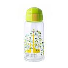 日本熊本士儿童玻璃森林小鹿吸管水杯 便携可爱杯子 防摔加厚宝宝水壶620ML