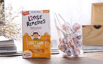美国小鼻子LITTLEREMEDIES天然蜂蜜棒棒糖10支装