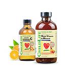 美国童年时光Childlife 维生素C补充液+23种复合维生素营养液组合套装