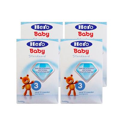4盒装 荷兰 美素Friso/Herobaby婴儿奶粉3段  10个月以上 800g/盒*4
