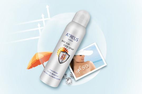 泰国ATREUS防晒喷雾SPF50牛奶美白防水隔离清爽全身150ml