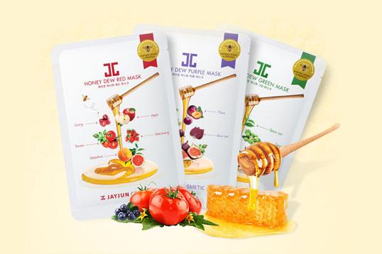 韩国JAYJUN水光蜂蜜面膜 麦卢卡蜂蜜面膜5片/盒