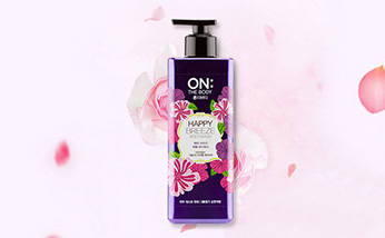 韩国LG生活健康ON THE BODY快乐微风浪漫紫色香水沐浴露 500g/瓶