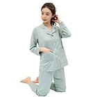 韩国Let's diet 睡衣七件套 绿色/粉色两种颜色