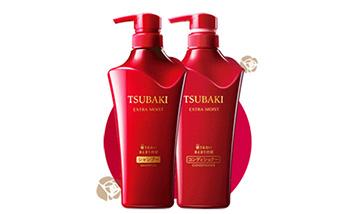 日本资生堂(Shiseido)丝蓓绮(TSUBAKI)极耀洗护组合 500ml+500ml