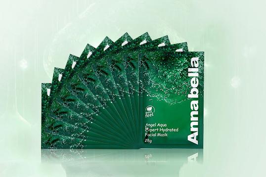 直邮 泰国ANNABELLA/安娜贝拉海藻面膜 矿物质精华深层补水保湿10片/盒