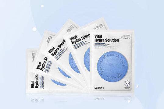韩国蒂佳婷-蓝色款 药丸面膜 高效补水面膜 深层补水 抗敏镇静 5片/盒
