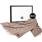 YPL意大利星空駝絨圍巾 紫外線遇光變色 保暖不扎身 ( 褐色)