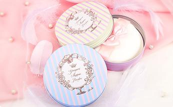 日本CLUB出浴素颜粉饼护肤晚安粉 保湿控油定妆蜜粉饼 无需卸妆 玫瑰香味26g