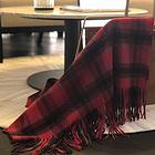 2018新款澳大利亞IZR UGG 圍巾 13號紅色條紋格加厚款 尺寸200*70cm
