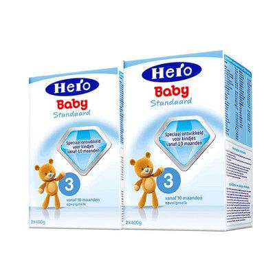 2盒装 荷兰美素Friso/Herobaby婴儿奶粉3段  10个月以上 800g/盒*2
