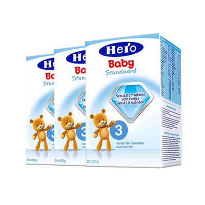 3盒装 荷兰 美素Friso/Herobaby婴儿奶粉3段  10个月以上 800g/盒*3