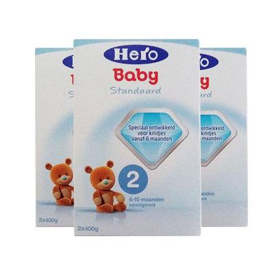 3盒装 荷兰美素Friso/Herobaby婴儿奶粉2段 6-10个月 800g/盒*3