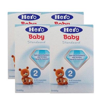 4盒装 荷兰美素Friso/Herobaby婴儿奶粉2段 6-10个月 800g/盒*4
