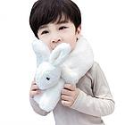 一般贸易荚贝 宝宝萌萌可爱立体兔子毛绒围巾 加厚 可爱保暖