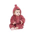 中国李小熊 三层加厚保暖圣诞帽哈衣 爬服 D8129酒红色不包脚