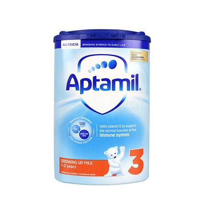 英国 原装进口 爱他美新版3段1-2岁进口婴儿牛奶粉 Aptamil  800g