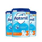 英国 原装进口 爱他美新版3段1-2岁进口婴儿牛奶粉 Aptamil 800g/罐 3罐装