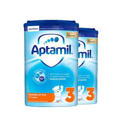 英国 原装进口 爱他美新版3段1-2岁进口婴儿牛奶粉 Aptamil 800g/罐 2罐装