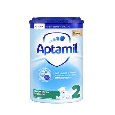 英国 原装进口 爱他美新版2段6-12月进口婴儿牛奶粉 Aptamil 800g  新老包装随机发货