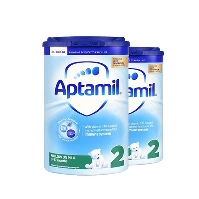 英国 原装进口 Aptamil爱他美奶粉2段 800g/罐6-12月   2罐装 新老包装随机发货