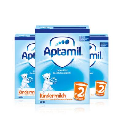 德国 Aptamil爱他美2+奶粉600g/罐  2岁以上宝宝 3罐装