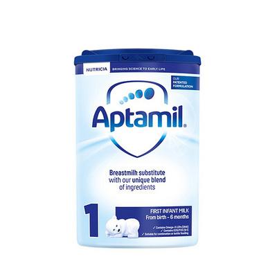 英国 原装进口 Aptamil爱他美 1段奶粉(0-6个月) 800g/罐