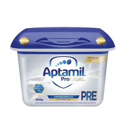 德国爱他美Aptamil高端奶粉白金版 新配方+新老包装随机发货 Pre段 0-3个月宝宝 800g/罐