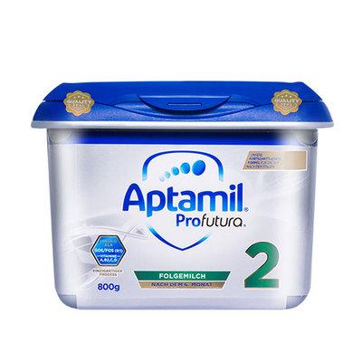 德国Aptamil爱他美白金版2段 全球母婴营养专家 母乳配比6~12月 800克/罐 新老包装随机发货