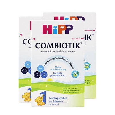 德国喜宝HiPP 益生菌Combiotik奶粉 1段(0-6个月) 600g/罐 3罐装