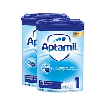 德国美乐宝Aptamil爱他美奶粉 1段 800g/罐 0-6个月 德爱 2罐装