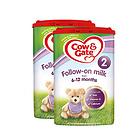 英国牛栏cow&gate 2段婴幼儿奶粉 6-12月 800g/罐英牛2罐装