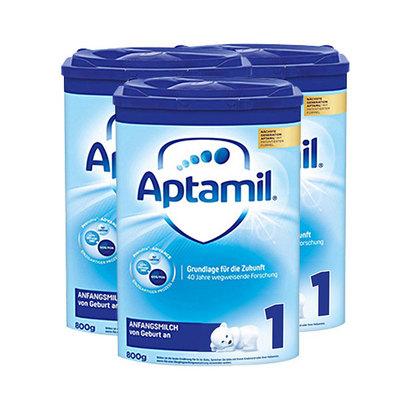 德国美乐宝Aptamil爱他美奶粉 1段 800g/罐 0-6个月  德爱3罐装