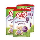 英国牛栏cow&gate 2段婴幼儿奶粉 6-12月 800g/罐英牛3罐装