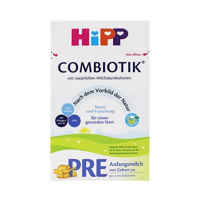 德国喜宝HiPP益生菌Combiotik婴儿奶粉pre段 促消化护肠道 0-3个月 600g/罐