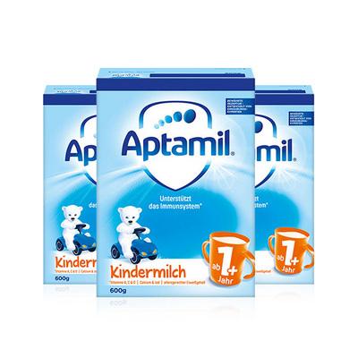 德国Aptamil爱他美1+奶粉600g/罐 1岁以上 3罐装