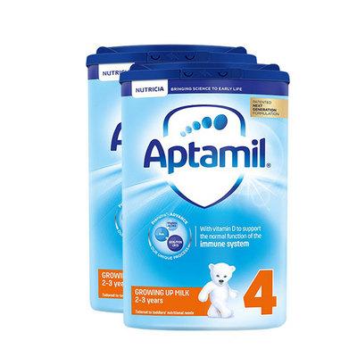 英国 原装进口 Aptamil爱他美奶粉4段800g/罐 2-3岁 2罐装