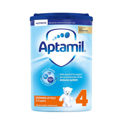 英国 原装进口 Aptamil 爱他美婴幼儿牛奶粉4段800g/罐 2-3岁