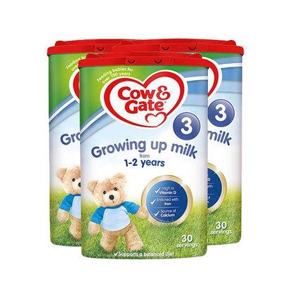英国牛栏Cow&Gate 新版3段婴儿奶粉 1~2岁 800g/罐 英牛3罐装  新老包装随机发货
